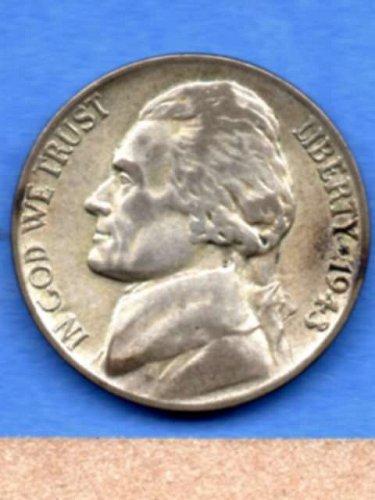 1943 P Jefferson Silver War Nickel Genuine Natural US Coin Money
