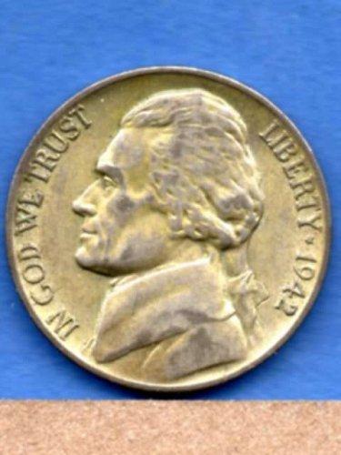 1942 P Jefferson Silver War Nickel Genuine Natural US Coin Money