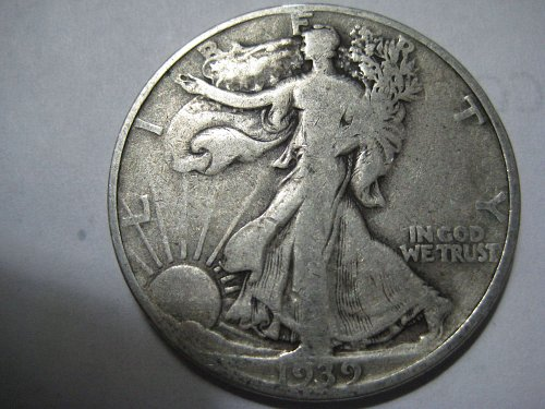 1939 S Liberty Walking Half Dollar