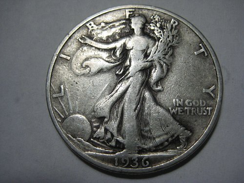 1936 S Walking Liberty Half Dollar