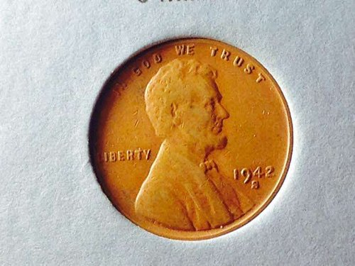 1942s Lincoln wheat cent small cents;