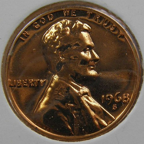 1968 S Lincoln Memorial Cent Proof