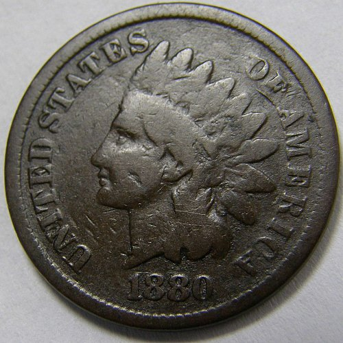 1880 P Indian Head Cent #6