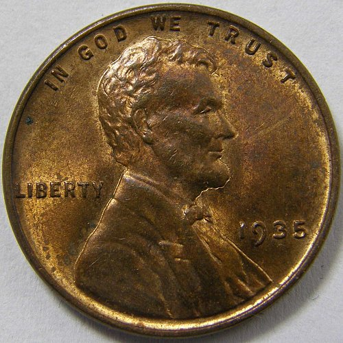1935 P Lincoln Wheat Cent #1