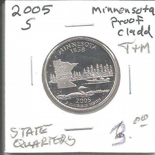 2005 S  PROOF  MINNESOTA STATE QUARTER