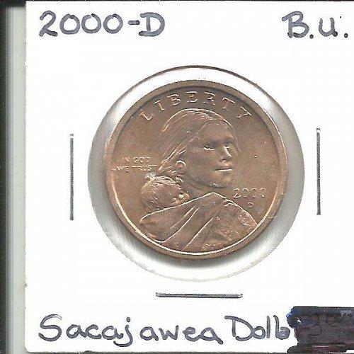 2000 D  SACAGAWEA GOLDEN DOLLAR