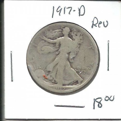 1917 D  (on reverse) WALKER HALF DOLLAR