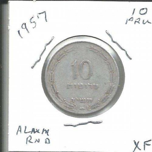1957  10 PRUTA  from  ISRAEL