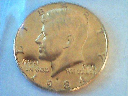 24 kt gold plate 1984 Kennedy half dollar 1960-1985 RARE