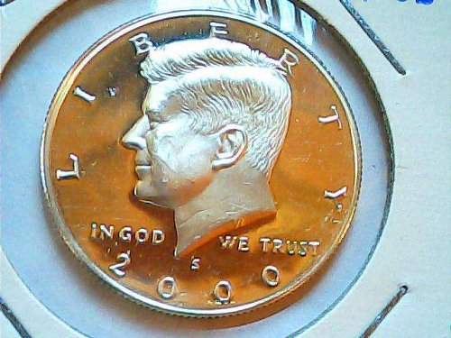 silver proof Kennedy 2000 S Half dollar silver coin