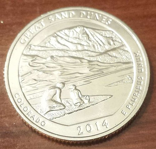 2014-S Great Sand Dunes National Park * America the Beautiful Quarter (4884)
