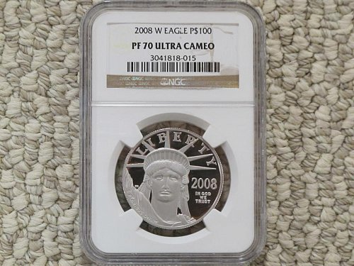 2008 W PLATINUM EAGLE - P$100  PF70 NGC