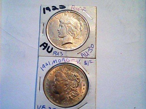 silver peace dollar 1923 silver coin