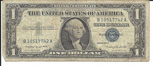 1957 A   SILVER CERTIFICATE  B 10517745 A