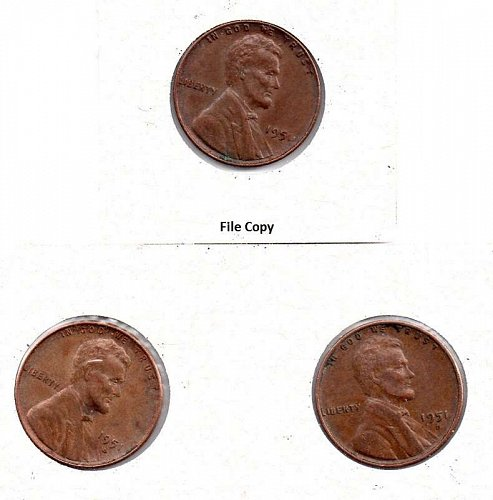 1951 p,d,s Lincoln Wheat Pennies #3