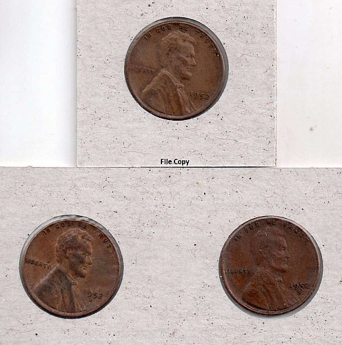 1952 p,d,s Lincoln Wheat Pennies #3