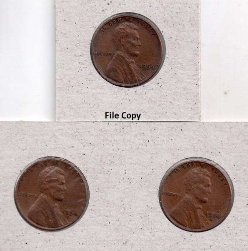 1954 p,d,s Lincoln Wheat Pennies #3