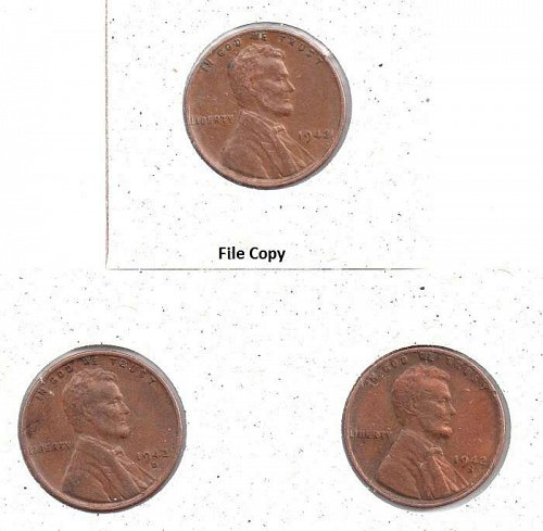 1942 p,d,s Lincoln Wheat Pennies #3