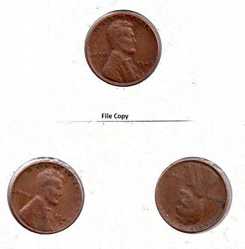 1948 p,d,s Lincoln Wheat Pennies #4