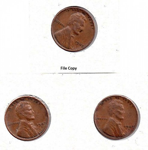 1947 p,d,s Lincoln Wheat Pennies #4