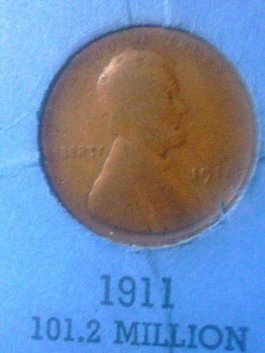 1911 Lincoln Wheat Penny One Cent