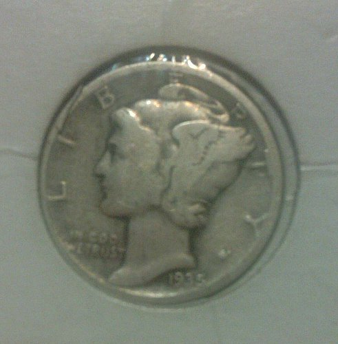 1935 10C FB Mercury Dime