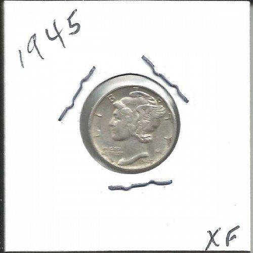 1945   MERCURY DIME