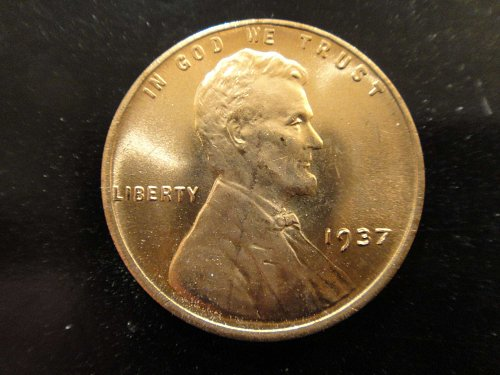 1937 Lincoln Cent MS-65 (GEM) RED Nice Blast of Luster!