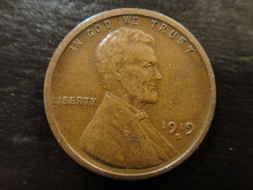 1919-S Lincoln Cent Very Fine-30 Nice Chocolate Brown!
