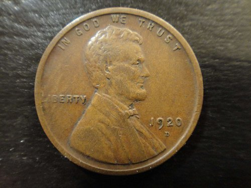 1920-D Lincoln Cent Very Fine-30 Strong Strike For Date!