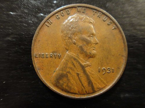 1931 Lincoln Cent Almost Uncirculated-50 Nice Chocolate Brown Coin!