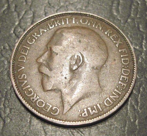 1925 UK Great Britain 1/2 Penny