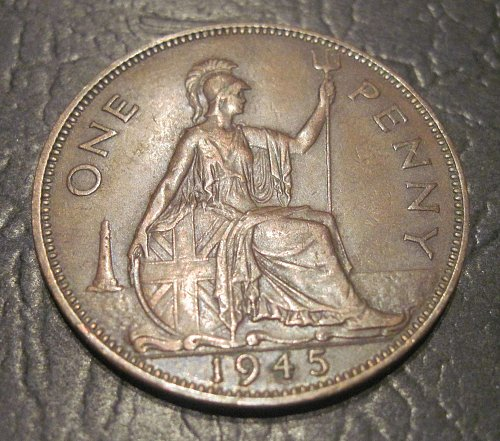 1945 Great Britain Large Penny