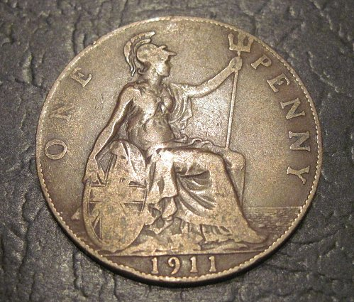 1911 Great Britain Large Penny
