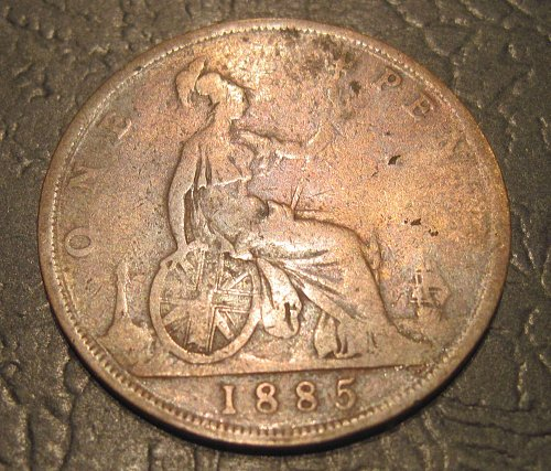 1885 Great Britain Large Penny