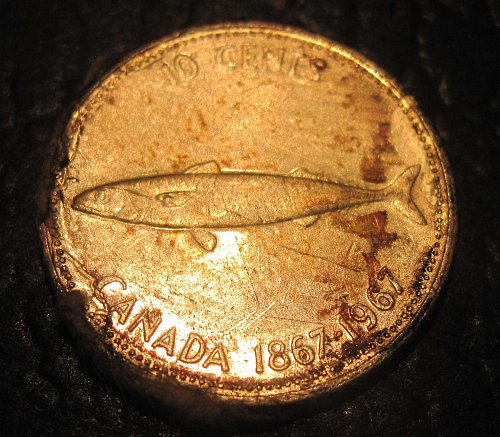 1967 Canadian Dime