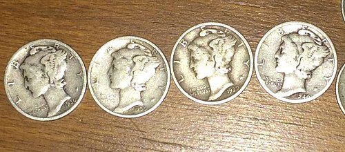 11pc. Mercury Dime Lot, NO RESERVE!!, 36',39'-D,40',41',42',43',44'-D