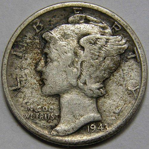 1943 P Mercury Dime #1