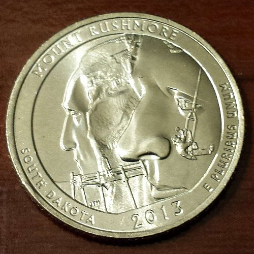 2013-P Mt Rushmore National Park Quarter (5012)