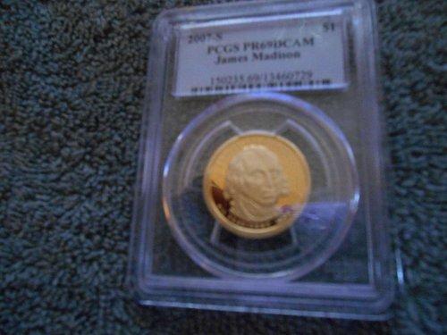 2007-S   Presidential dollar James Madison  PR69DCAM
