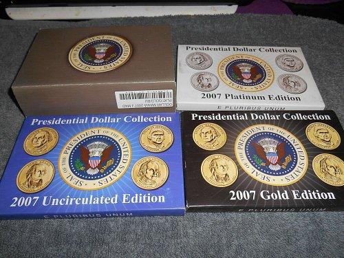 2007 Presidential dollars 6 set series John Madison