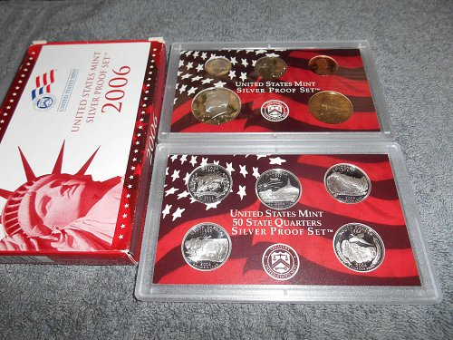2006 silver US proof 10 coin set