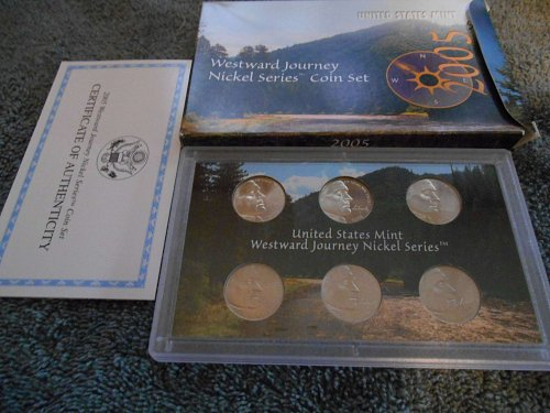 2005 westward journey nickel mint set - all 6 coins
