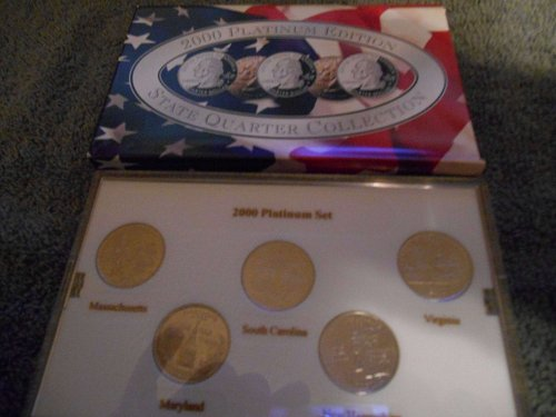 2000 Platinum    5 state quarter mint  set