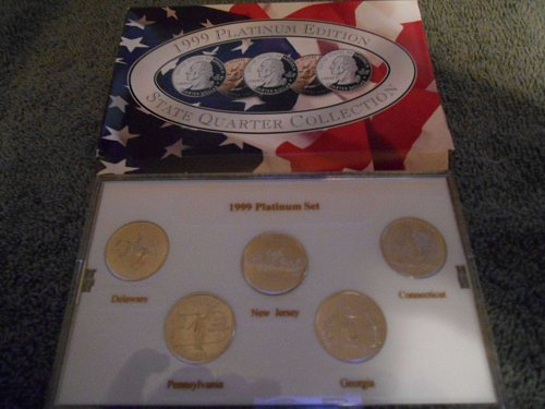 1999  Platinum  US Mint set 5 state quarters