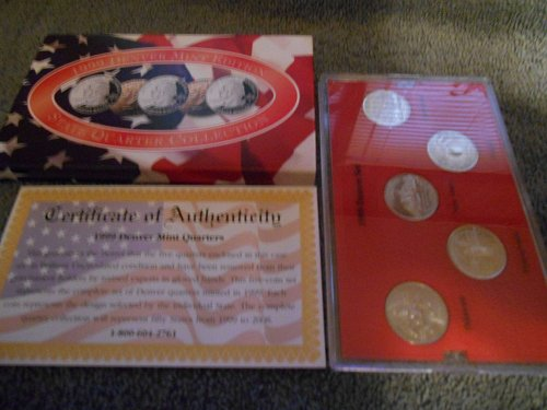 1999  D  US Mint set 5 state quarters