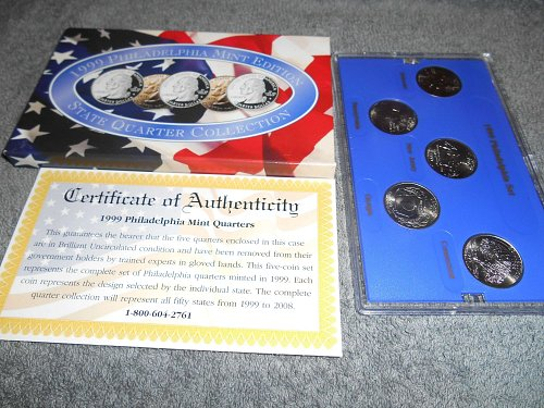 1999  P  US Mint set 5 state quarters