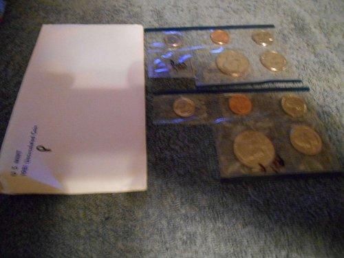 1981 P US Mint set (Partial)