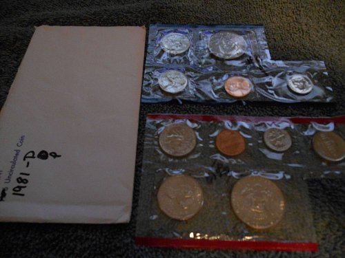 1981 D and P US Mint set (Partial)