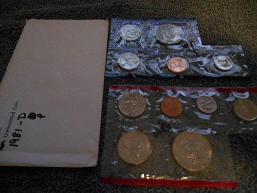 1981 D and P US Mint set (Partial)
